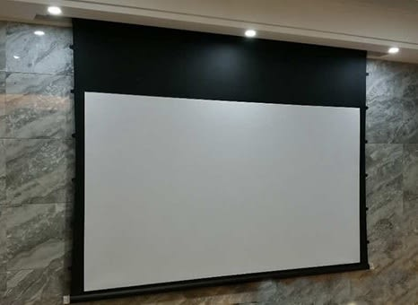KAMAS卡瑪斯120吋16:9 高平整弧形張力幕電動拉線投影布幕 高CP值晉升4K高階劇院等級 原廠2年保固