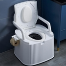 移動馬桶 老人坐便器孕婦可移動馬桶成人座便器家用便攜式廁所椅大便桶室內(聖誕新品)