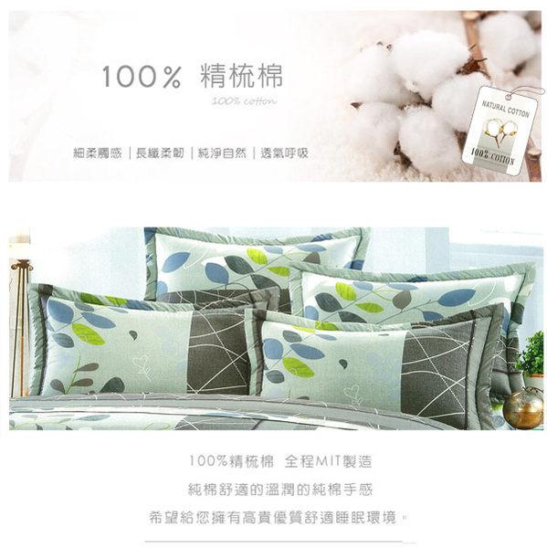 鋪棉床包 100%精梳棉 全鋪棉床包兩用被四件組 雙人特大6x7尺 king size Best寢飾 6975-1