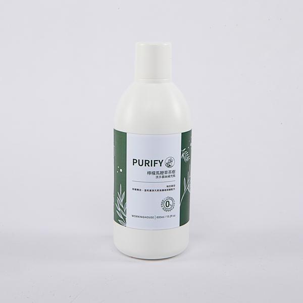 PURIFY檸檬馬鞭草茶樹洗手慕絲補充瓶600ml-生活工場