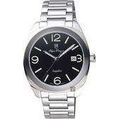 Olympianus 奧柏 經典復刻手錶-黑x銀/40mm 5706MS