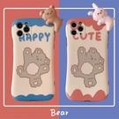 卡通可愛小熊兔子適用12/11Pro/Max蘋果X/XS/XR/7/8PLUS手機殼7/8/SE2