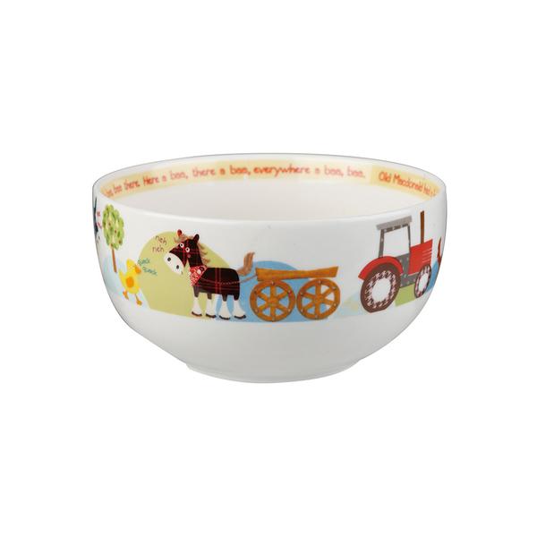 英國Churchill Queens兒童精瓷4件餐具組(動物農場-附原裝彩盒)