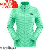 【The North Face 女 ThermoBall 暖魔球 保暖背心 浪花綠】 CUD6/暖魔球背心★滿額送