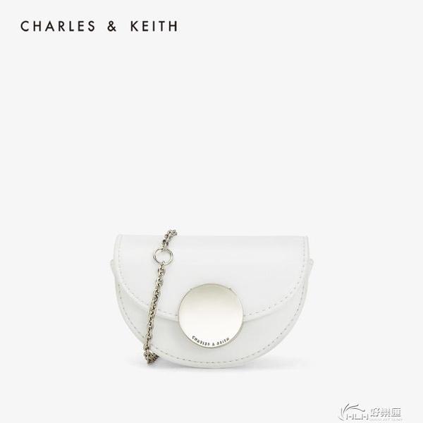CHARLES&KEITH女包CK6-30780986金屬扣飾女士錬條零錢包 好樂匯