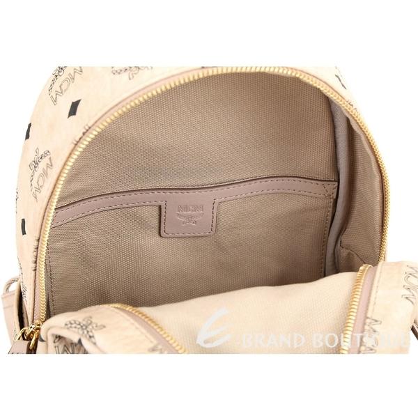 MCM Stark Rabbit 迷你款 兔子印花品牌塗層帆布後背包(米色) 1840738-40