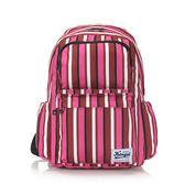 《高仕皮包》【免運費】KANGOL 都會時尚線條後背包.紅色KG1111-J-RED