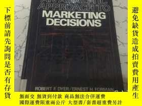 二手書博民逛書店an罕見analytic approach to marketi