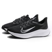 NIKE 慢跑鞋 WMNS ZOOM WIFFLO 7 黑白 運動 健身 女 (布魯克林) CJ0302-005