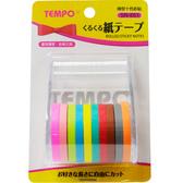 【TEMPO 節奏】 SN-651 捲型紙膠帶5mm×5m×10色彩貼