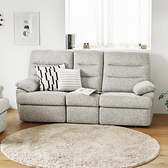 三人沙發 電動沙發 沙發 椅 沙發床【Y0044】Vega Delia電動可躺式三人布沙發 完美主義