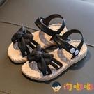 涼鞋夏季女童蝴蝶結公主鞋寶寶塑膠學生鞋搭扣兒童涼鞋沙灘鞋【淘嘟嘟】