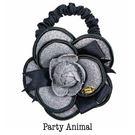 Sassy Ones Party Animal手工質感半立體花朵髮束 粉灰