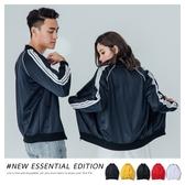 外套 復古運動風 三線邊條 情侶外套【A20211】情侶款 MA1 夾克