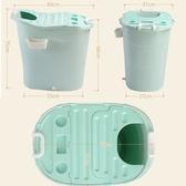 家用成人洗澡桶兒童泡澡桶全身浴桶嬰兒游泳塑膠省水浴盆摺疊浴缸 ATF 伊衫風尚
