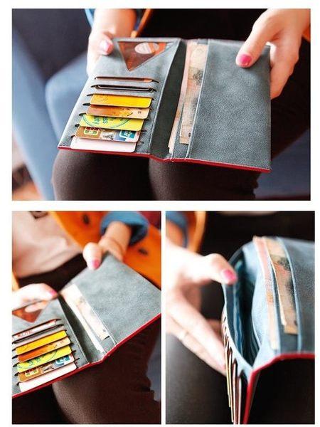簡約超薄磨砂多卡位皮夾錢包長夾非中夾短夾手機包