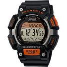 【CASIO 卡西歐】Solar 太陽能大錶徑運動錶-橘x灰 STL-S110H-1ADF