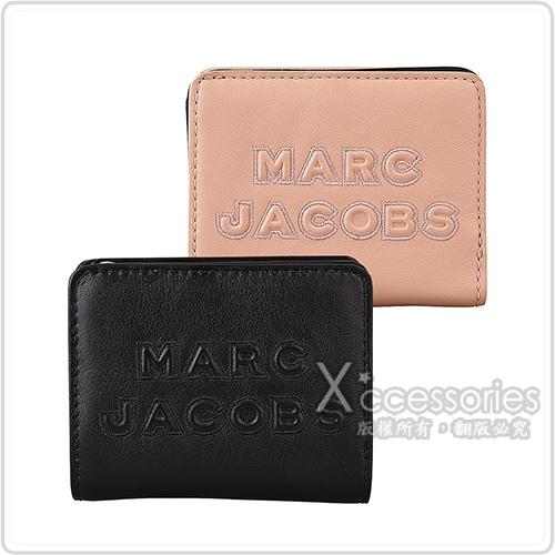 MARC JACOBS FOLDING精緻荔枝紋牛皮拉鍊扣式短夾 (兩色)