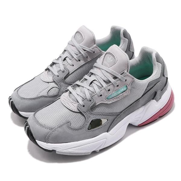 【海外限定】adidas 老爹鞋 Falcon W 灰 粉紅 老爺鞋 運動鞋 女鞋【ACS】 D96698