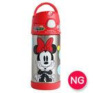 「NG商品」【Thermos】不銹鋼兒童吸管水壺-355ml-米妮(新款有提把) 底部稍微站不穩