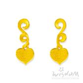 威世登 黃金心型貼耳耳環 金重約0.74~0.76錢(含黃金耳束) 送禮推薦 生日 情人節 GJ00132F-EEX-EHX