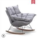 桌椅 漢哲北歐家用陽台布藝搖搖椅大人簡約午睡休閒椅子懶人躺椅沙發 星河光年DF
