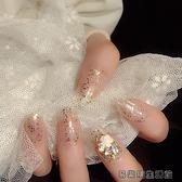 指甲貼紙美人貼大閃粉指尖珠寶