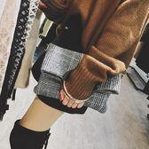 包包女潮韓版百搭斜挎單肩包格子時尚子母包大容量手提包 港仔會社