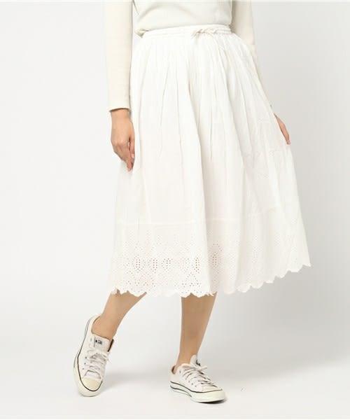 ❖ Hot item ❖ 下擺蕾絲花邊鬆緊腰設計長裙 (提醒➯SM2僅單一尺寸) - Sm2