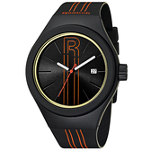 Reebok Rush系列 極限光速時尚腕錶-橘線x黑