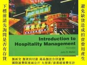 二手書博民逛書店introduction罕見to hospitality man