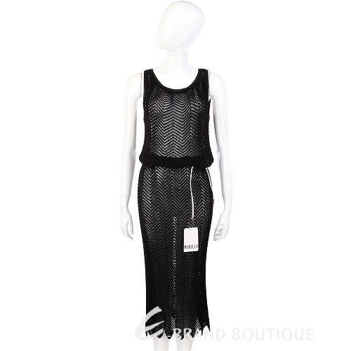 GENNY 黑色網狀針織洋裝 0520983-01