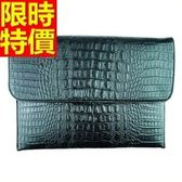 公事包  男手拿包-信封造型高貴大氣經典鱷魚紋66e50[巴黎精品]