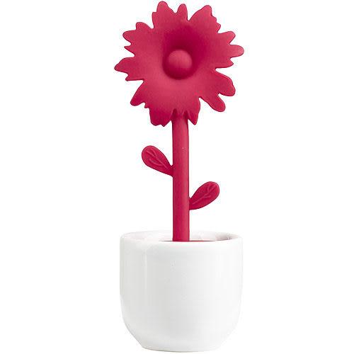 《ZONE》花朵濾茶器(紅)