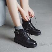 短靴 英倫風馬丁靴女夏季薄款透氣潮ins酷顯腳小短靴春秋單靴 晶彩