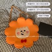 小憨獅11寸平板電腦包便攜可愛原創斜挎包海綿手提包學生 橙子精品
