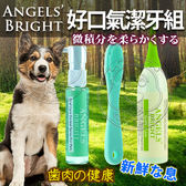 【zoo寵物商城】美國Angels Bright天使牌》天使牌好口氣潔牙組(凝膠+噴霧+指尖刷)