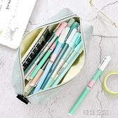 簡約可愛女生筆袋 韓國大學生小清新鉛筆袋男 創意純色帆布大容量學生文具盒鉛筆盒