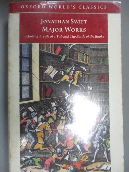 【書寶二手書T5/翻譯小說_CC1】Major Works_Swift, Jonathan/ Ross, Angus (EDT)/ Woolley, David (EDT)