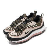 Nike 休閒鞋 Wmns Air Max 98 卡其 黑 女鞋 運動鞋 【PUMP306】 AH6799-301