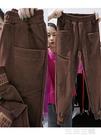 運動褲 運動褲子女新款秋冬寬鬆顯瘦百搭哈倫束腳褲加絨加厚休閒褲 生活主義