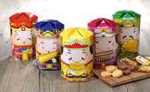 【旺家居生活】-五路財神牛軋糖禮盒-免運-手工牛軋糖 伴手禮 年節禮盒 糖果 伴手禮 -糖邑工坊