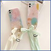 蘋果 iPhone XR XS MAX iX i8+ i7+ 粉綠 長掛繩殼 手機殼 全包邊 軟殼 保護殼