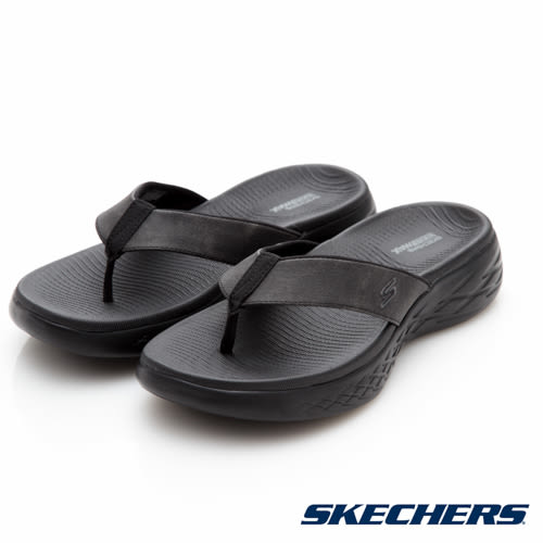 SKECHERS ON-THE-GO 600 夾腳拖鞋 男鞋 黑色 55352BBK no840
