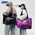 果凍包 手提包 透明大容量包包女時尚PVC果凍包ins單肩斜背手提袋潮流防水沙灘包
