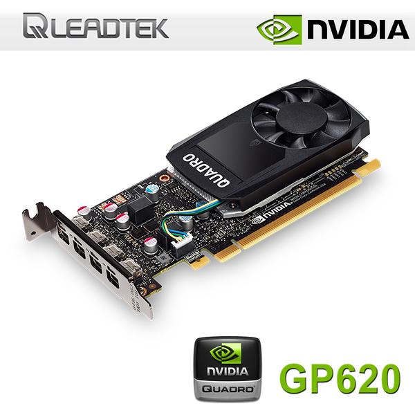 【免運費】LEADTEK 麗臺 NVIDIA Quadro P620 2GB GDDR5 工作站繪圖卡 / MDP-DP / 三年保