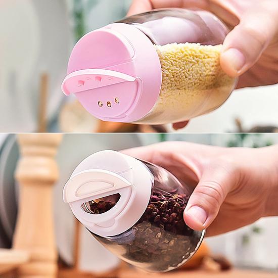 調味罐 鹽罐 胡椒罐 調味料盒 調味料罐 調味瓶 撒佐料瓶 日式 四入 雙蓋四入調味瓶【J131】慢思行
