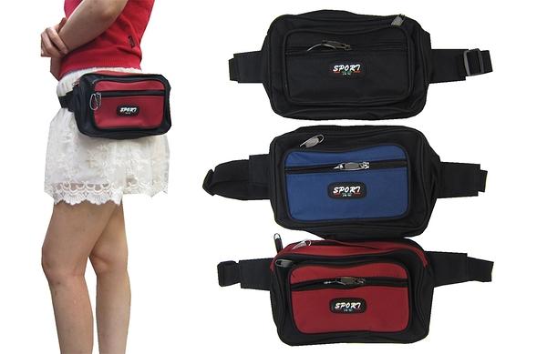 ~雪黛屋~SPORT 腰包中容量外袋+主袋共四層工作包運動休閒外出旅遊重要物品包防水尼龍布SD802