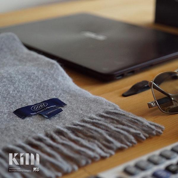 可傑 KIM Taiwan 喀什米爾圍巾 平凡靜好.灰 GOBI蒙古草原第一品牌羊絨織品製造 圍巾 喀什米爾