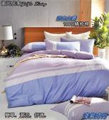 【床包+兩用被】★精梳棉四件式★6尺 /大膽玩色系列/ 雙人加大 /淺紫時尚 / MIT